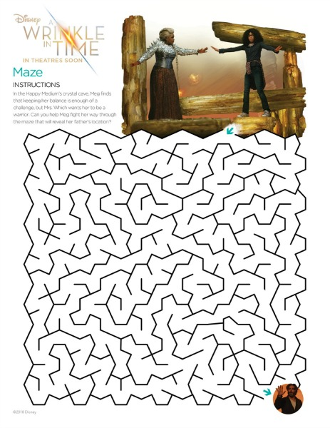A Wrinkle in Time maze