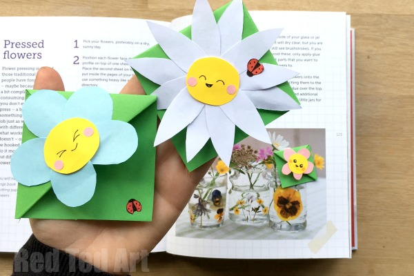 flower corner bookmark craft