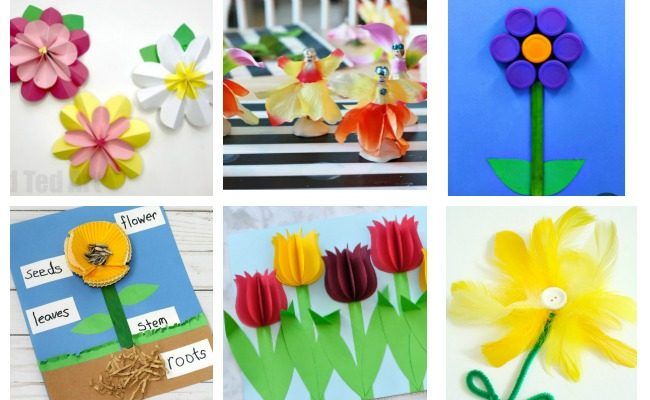 17 bright and colorful flower crafts for kids