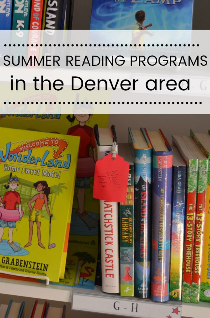 summer reading programs in the Denver area